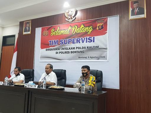 Polres Bontang Terima Tim Supervisi Direktorat Intelkam Polda Kaltim