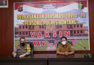 275 Personel Polres Bontang Sudah Jalani Vaksin COVID-19 Tahap Pertama