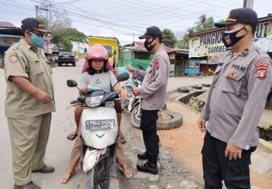 Cegah Penyebaran Covid-19,Polsek Marang Kayu Bersama Satpol PP Gelar Operasi Yustisi Pendisiplinan Protokol Kesehatan