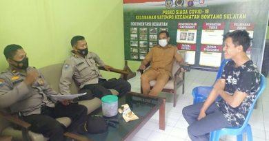 Tim Surpervisi Polres Bontang, Kunjungi Posko PPKM Mikro Di Kelurahan Dan Desa
