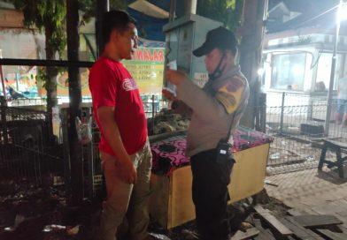 Giatkan Patroli KRYD Polsek Bontang Selatan Bagikan Masker  Himbau  Warga Patuhi Prokes