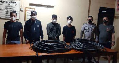 2 Orang Pelaku Pencurian Kabel Diringkus Polsek Muara Badak