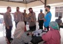 Kapolres Bontang Pantau Gerai Vaksin Presisi di Aula Parasatwika