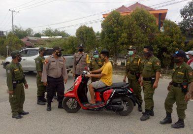 Polsek Marang Kayu Laksanakan Operasi Yustisi Gabungan  Penerapan PPKM Mikro Level 4